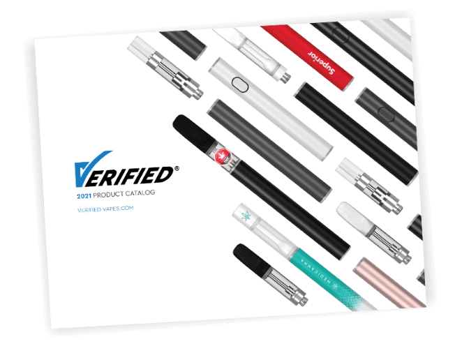 Download the 2021 Verified Vapes product catalog for wholesale cartridges and batteries